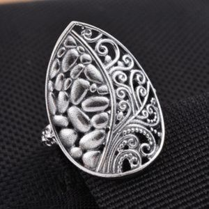 Jewelry - Sterling Silver Swirl Openwork Ring (Size 6.0)
